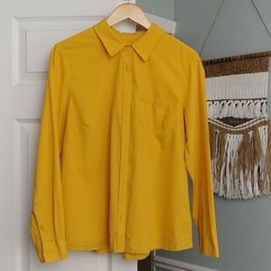 Sonoma Everyday shirt Mustard Button Up